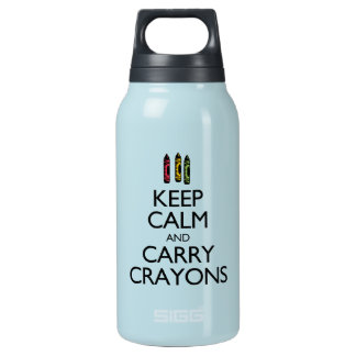 Keep Calm and Carry Crayons Thermos Water Bottle