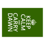 Keep Calm and Carry Dawn (any color) Business Card Templates
