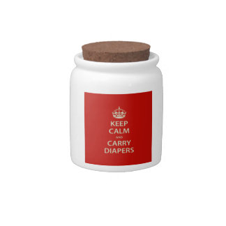 Keep Calm and Carry Diapers Candy Jar