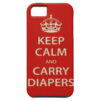 Keep Calm and Carry Diapers iPhone 5 Cases