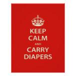 Keep Calm and Carry Diapers Custom Letterhead
