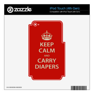 Keep Calm and Carry Diapers Decal For iPod Touch 4G