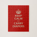Keep Calm and Carry Diapers Jigsaw Puzzle