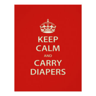 Keep Calm and Carry Diapers Letterhead