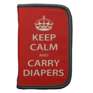 Keep Calm and Carry Diapers Folio Planners