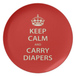 Keep Calm and Carry Diapers Plate