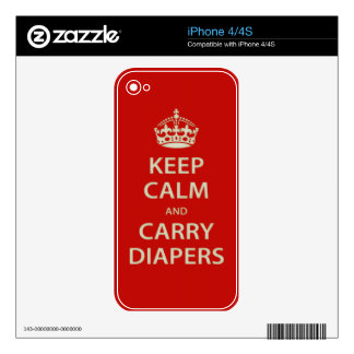Keep Calm and Carry Diapers Skins For iPhone 4