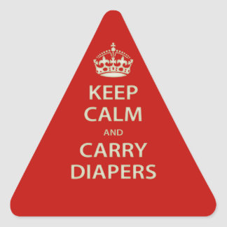 Keep Calm and Carry Diapers Triangle Sticker