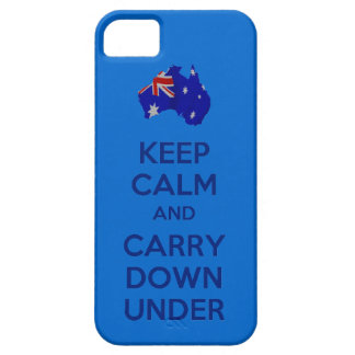 Keep Calm and Carry Down Under iPhone 5 iPhone SE/5/5s Case