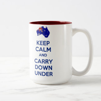 Keep Calm and Carry Down Under Mug