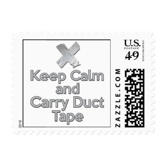 Keep Calm and Carry Duct Tape Postage