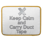 Keep Calm and Carry Duct Tape Sleeves For MacBooks