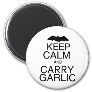 Keep Calm and Carry Garlic 2 Inch Round Magnet