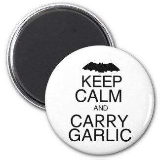 Keep Calm and Carry Garlic Refrigerator Magnet