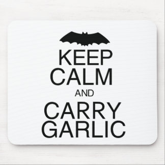 Keep Calm and Carry Garlic Mouse Pad