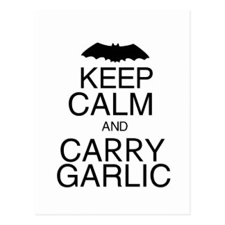 Keep Calm and Carry Garlic Postcards
