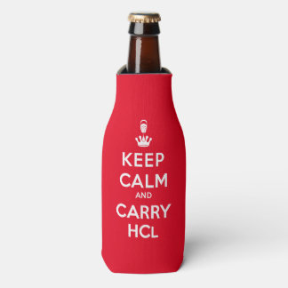 Keep Calm and Carry HCl Bottle Cooler