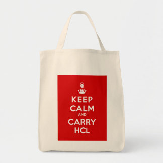 Keep Calm and Carry HCl Tote Bag