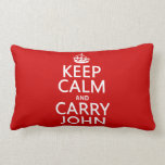 Keep Calm and Carry John (any color) Pillows