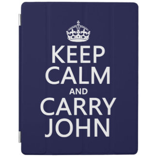 Keep Calm and Carry John iPad Cover
