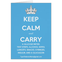 Keep Calm and Carry...(List of Diabetes Supplies!)