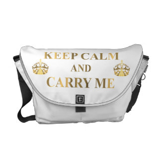 Keep calm and carry me on any color messenger bag