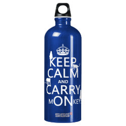 SIGG Traveller Water Bottle (0.6L) with Keep Calm and Carry Monkeys design