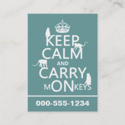 with Keep Calm and Carry Monkeys design