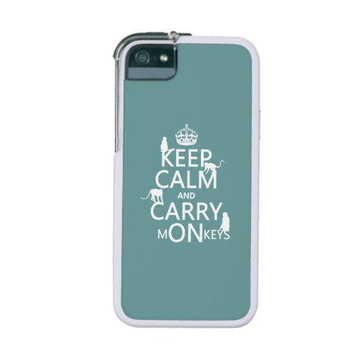 Keep Calm and Carry mONkeys - all colors iPhone 5/5S Case