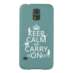 Case-Mate Barely There Samsung Galaxy S5 Case with Keep Calm and Carry Monkeys design