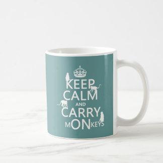 Keep Calm and Carry mONkeys - all colors Coffee Mug