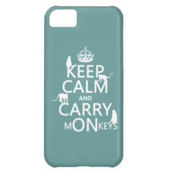 Case-Mate Barely There iPhone 5C Case with Keep Calm and Carry Monkeys design