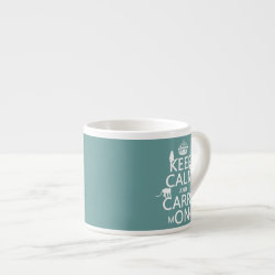 Espresso Cup with Keep Calm and Carry Monkeys design