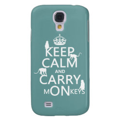 Case-Mate Barely There Samsung Galaxy S4 Case with Keep Calm and Carry Monkeys design