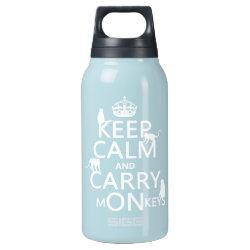 SIGG Thermo Bottle (0.5L) with Keep Calm and Carry Monkeys design