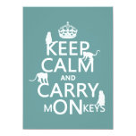 Keep Calm and Carry mONkeys - all colors Personalized Announcement