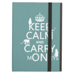 iPad Air Powis Case with Keep Calm and Carry Monkeys design