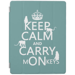 iPad 2/3/4 Cover with Keep Calm and Carry Monkeys design