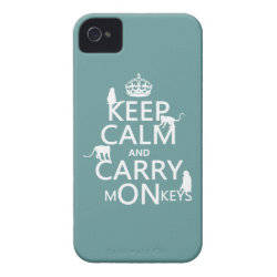 Case-Mate iPhone 4 Barely There Universal Case with Keep Calm and Carry Monkeys design