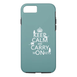 Case-Mate Barely There iPhone 7 Case with Keep Calm and Carry Monkeys design