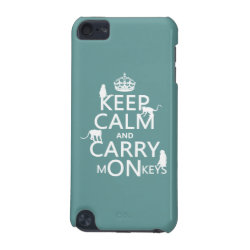 Case-Mate Barely There 5th Generation iPod Touch Case with Keep Calm and Carry Monkeys design