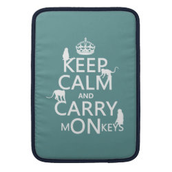 Macbook Air Sleeve with Keep Calm and Carry Monkeys design