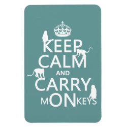 4'x6' Photo Magnet with Keep Calm and Carry Monkeys design