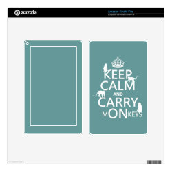 Amazon Kindle DX Skin with Keep Calm and Carry Monkeys design