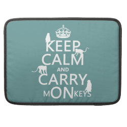 Macbook Pro 15' Flap Sleeve with Keep Calm and Carry Monkeys design
