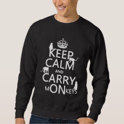Men's Basic Sweatshirt with Keep Calm and Carry Monkeys design
