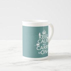 Bone China Mug with Keep Calm and Carry Monkeys design