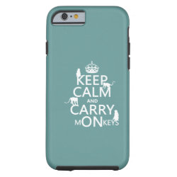 Case-Mate Barely There iPhone 6 Case with Keep Calm and Carry Monkeys design