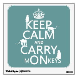 Walls 360 Custom Wall Decal with Keep Calm and Carry Monkeys design