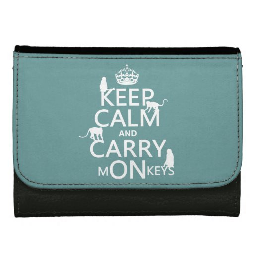Keep Calm and Carry mONkeys - all colors Wallet